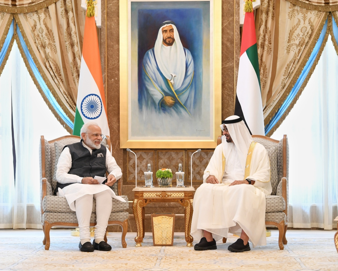 mohammed bin zayed and Narendra Modi