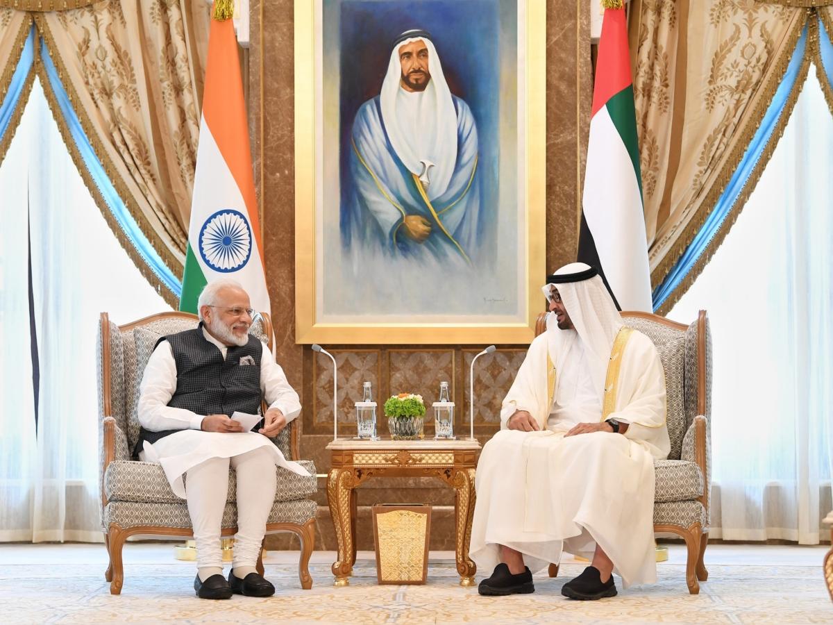 mohammed bin zayed and Narendra Modi